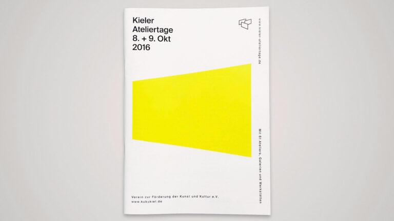 Programmheft zu den Kieler Ateliertagen